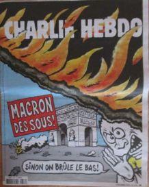 CHARLIE HEBDO N° 1376 DÉC. 2018 ARC de TRIOMPHE MACRON DES S