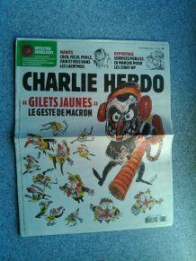 CHARLIE HEBDO No 1375 NOVEMBRE 2018 GILLETS JAUNES LE GESTE