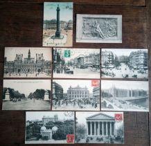 Paris - 10 cartes postales anciennes (lot4)