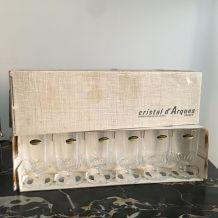 Service 12 verres vintage CRISTAL D'ARQUES modèle ÉLYSÉE