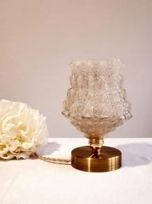 Lampe à poser globe verre vintage