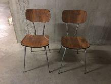 Paire de chaises en formica années 70