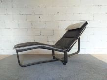 Chaise longue scandinave design Ingmar und Knut Relling cuir