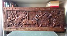 Panneau en bois sculpté - Artisanat africain