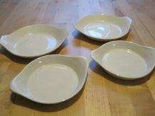 4 petits plateaux a oreilles en porcelaine pour cuisine