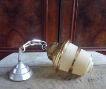 Jolie suspension en verre granité - Années 50