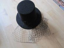 Chapeaux femme bibi voilette noire  vintage   1980/1990