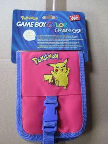 sacoche de rangement pour Game Boy Color Pokémon rose