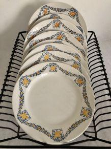 8 assiettes plates - HBCM - Service Georges
