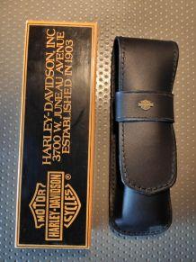 Harley Davidson Étui à stylo noir jamais utilisé