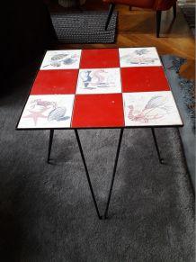Table d'appoint des années 50