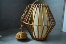 suspension rotin vintage style Louis sognot