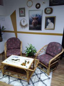 Salon en rotin vintage Audoux minnet