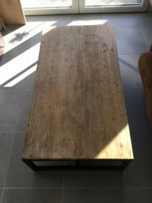 Table basse vintage industrielle