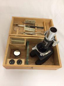 microscope pédagogique DENKER vintage