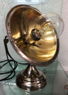 Lampe radiateur Calor chrome et laiton