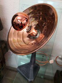 Lampe vintage radiateur thermor en cuivre