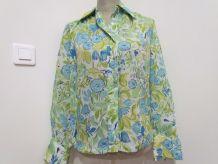 Belle Chemise Vintage aux Couleurs Printanières