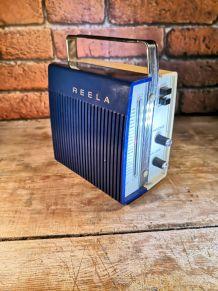 Transistor ou poste de radio - marque reela bleu et blanc