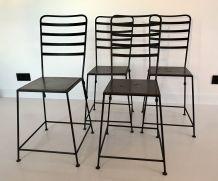 4 chaises-tabourets industriels