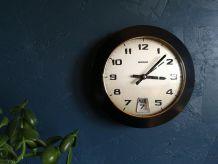 """Horloge vintage, pendule murale """"Bayard Noire"""""""