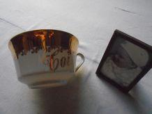 Grande tasse porcelaine fine