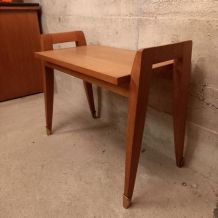 1950  table d'appoint germano-scandinave sabot cuivre