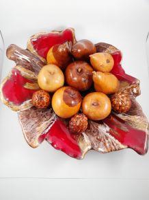 Coupe Vallauris avec fruits en bois