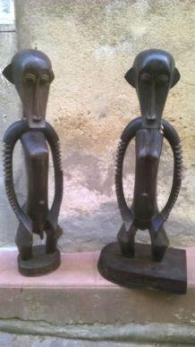 Couple de grande statue Africaine