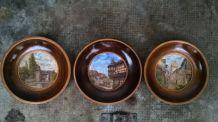 Set de trois peintures Miniatures