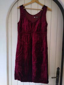 Robe vintage en velours cacharel