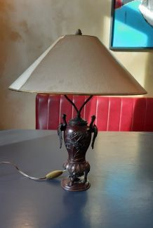 Lampe oiseau bronze
