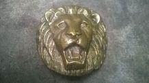 Grosse boucle de ceinture Lion