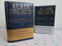 deux volumes d'Alain Decaux excellent état