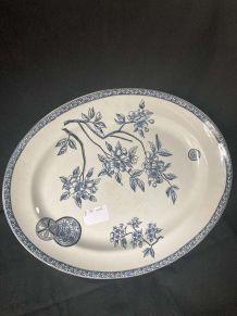 Plat Ovale Porcelaine TERRE DE FER - Marguerite
