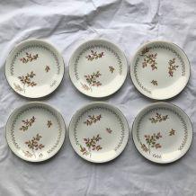Série de 4 assiettes vintage - en porcelaine - de Gien