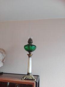 Lampe pétrole onyx cristal style empire