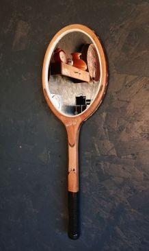 "Miroir, raquette miroir, raquette tennis - ""Bois"""