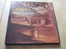 Coffret de 3 / 33 tours vinyles Bach les sonates et partitas