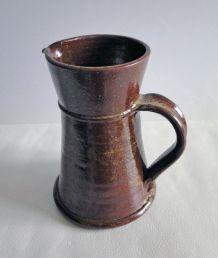 Pichet / Pot à eau / Carafe en grès émaillé Poterie Vintage