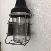 Lampe vintage 1960 baladeuse Atrow garage noire - 30 cm