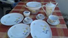 beau  service porcelaine de Bavière pour 2