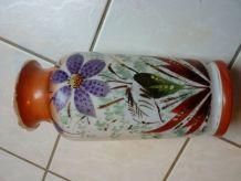 vase en opaline peint main émaillé art nouveau