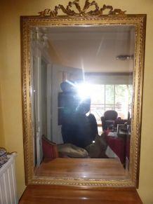 miroir doré ancien