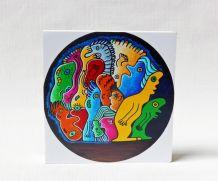 Objet de décoration colorée objet décoratif multicolore