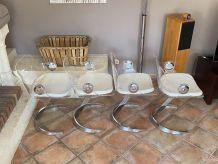 Série de 4 chaises Boris TABACOFF pour MMM. 1970.