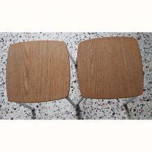 2 tabourets formica