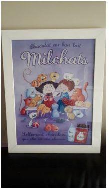 Affiche chats encadrée pour chambre d'enfant