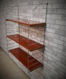 grande etagere style string chrome  solide , 1970 a 80   ,,,