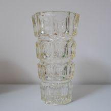 Vase en verre épais (jaune clair)